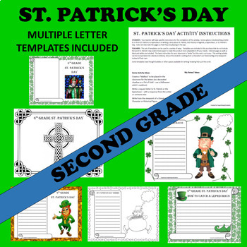 2nd Second Grade St. Patrick's Day Writing Activities