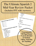2nd Semester Spanish 2 Review Packet & PPT