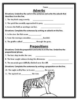 2nd Wonders Unit 6 Week 4 Grammar Second Wonders 6.4 Adverbs & Prepositions All