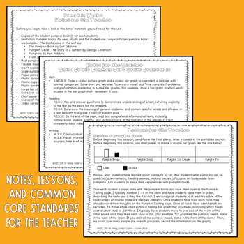 2nd and 3rd Grade CCSS Aligned Month by Month Activities October (Pumpkins)