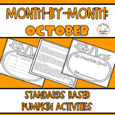 Pumpkin Activities for October CCSS Aligned 2nd and 3rd Grade