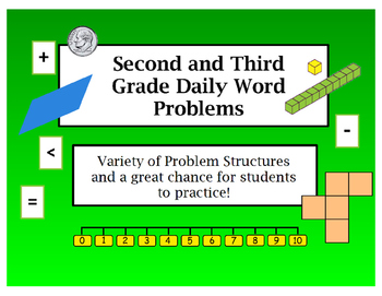 2nd and 3rd Grade Daily Word Problems Flip Chart for ActivInspire