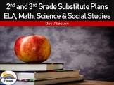 2nd and 3rd Grade Emergency Substitute Plans Day 7