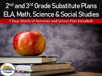 2nd and 3rd Grade Emergency Substitute Plans UNIT - 7 Days