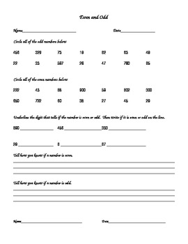 2nd and 3rd Grade Math Skills Practice Sheets