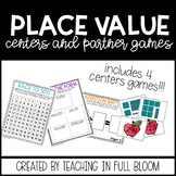 2nd and 3rd Grade Place Value Centers Games