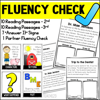 FLUENCY CHECK Reading Comprehension Passages Second Grade Third Grade