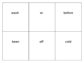 2nd and 3rd Grade Sight Word Flashcards