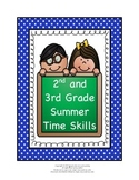 2nd and 3rd Grade Summer Time Skills