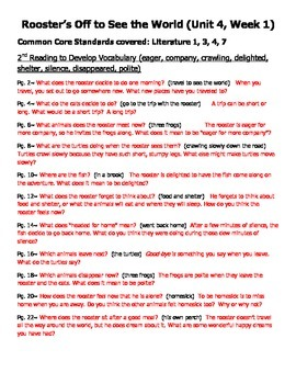 Questions for Guided Reading Stories Unit 4