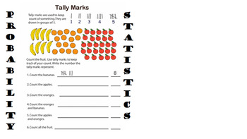 2nd grade 3day unit lesson plan: Probability and Statistics