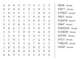 2nd grade ABeka Word Find List 6