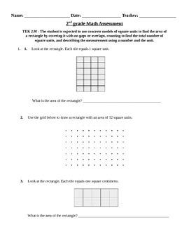 2nd grade Area assessment
