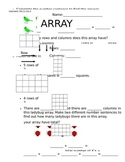 2nd grade Arrays Worksheet