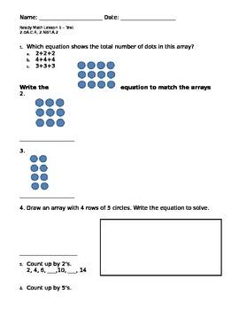 2nd grade Arrays assessment