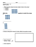 2nd grade Arrays assessment