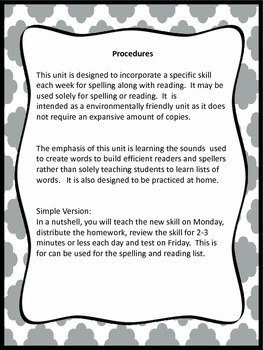 2nd grade Common Core Spelling List Homework and Reading Practice   No Prep