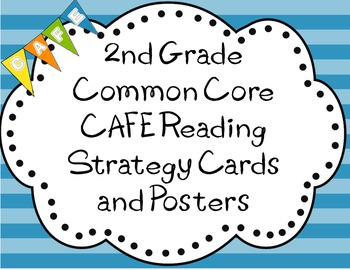 2nd grade Common Core Cafe Reading Strategies