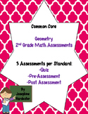 2nd grade Common Core Math Assessments -Geometry