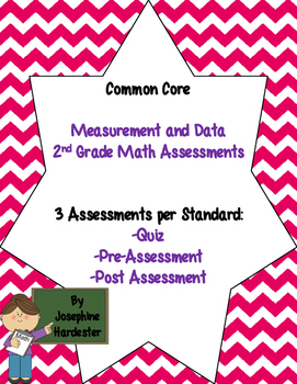 2nd grade Common Core Math Assessments -Measurement and Data