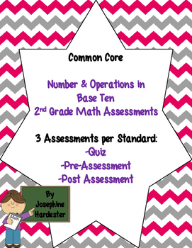 2nd grade Common Core Math Assessments -Number and Operation in Base Ten