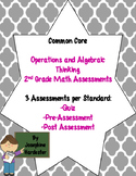 2nd grade Common Core Math Assessments -Operations and Alg