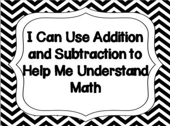 "2nd grade Common Core Math ""I Can"" Statements {Black & White Chevron}"