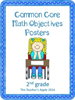 2nd grade Common Core Math Objectives Posters