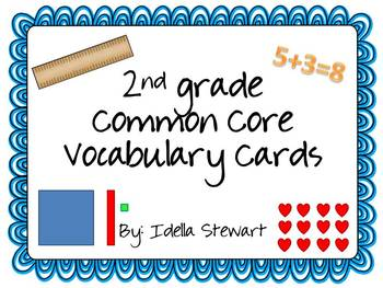 2nd grade Common Core Standards Vocabulary Cards