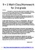 2nd grade December Math class/homework. Spiraling review &