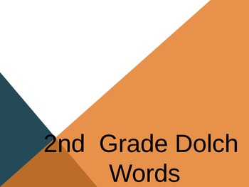 2nd grade Dolch Sight Word Powerpoint