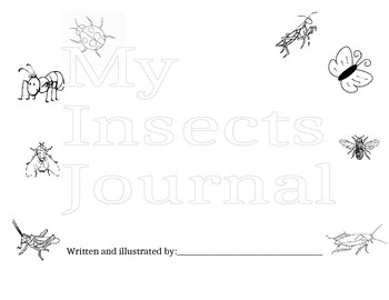 2nd grade Domain 8 Insects- journal