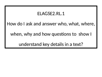2nd grade ELA Essential Questions.