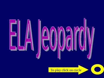 2nd grade ELA Jeopardy