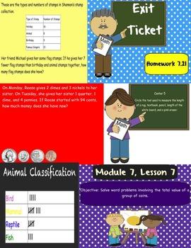 2nd grade Eureka Math, Module 7 Lessons 1-26