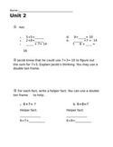 2nd grade Everyday Math Unit 2 Review