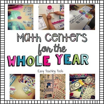 2nd grade Math Centers for the Entire Year Bundle  {65+ Centers}