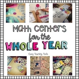 2nd grade Math Centers for the Entire Year Bundle