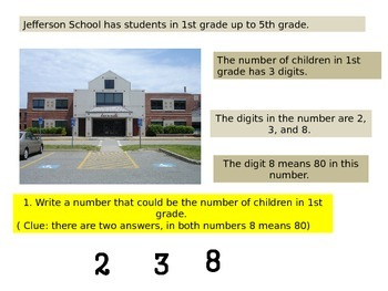 2nd grade  Math Performance Task Critical area 1: Two Schools