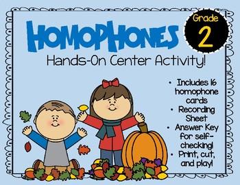 2nd grade Homophone Center Activity!
