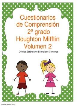 2nd grade Houghton Mifflin Comprehension quizzes vol 2 in SPANISH