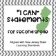 """2nd grade- """"I CAN"""" statements for New Jersey State Learning Standards"""