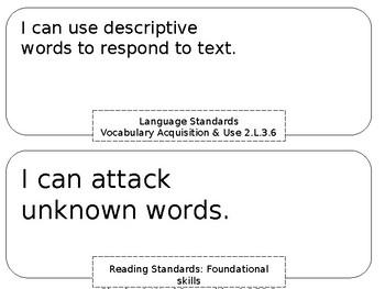 2nd grade I Can statements (ELA & Math)