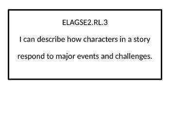 2nd grade ELA I Can statements for G.S.E. black-line border