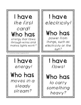 "2nd grade ""I have Who has"" vocabulary game (Reading Wonders- Unit 6 Week 2)"