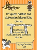 2nd grade Iditarod Dice Games:  Addition and Subtraction W