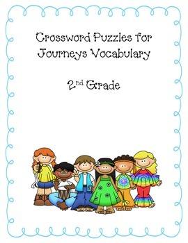 2nd grade Journeys 2014 Vocabulary Crossword Puzzles