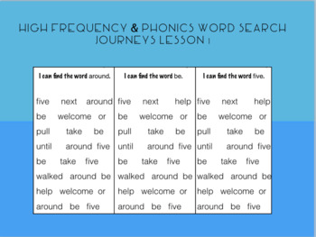 2nd grade Journeys Lesson 1, Henry and Mudge - Word Search