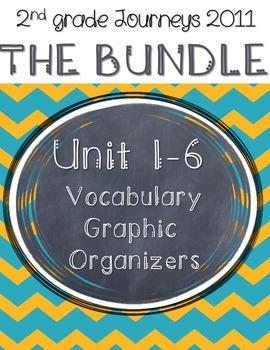 2nd grade Journeys Unit 1-6 Vocabulary Graphic Organizers: