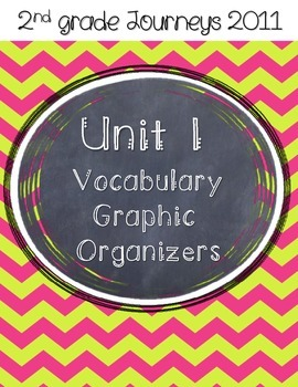 2nd grade Journeys Unit 1 Vocabulary Graphic Organizers
